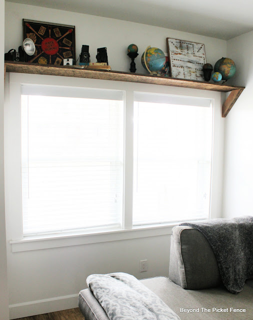 Reclaimed Wood Window Shelf