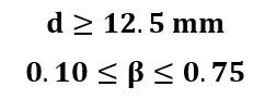 Condiciones para estimación de placa de orificio