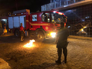 PM e Bombeiros flagram fogueiras acessas e populares são multados por descumprimento de Lei Estadual na PB