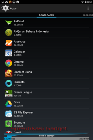Menon-aktifkan Aplikasi Bawaan Android, menu apps