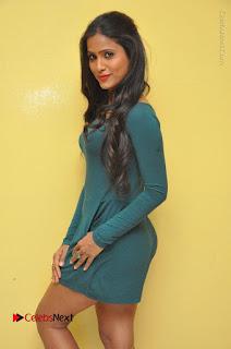 Telugu Actress Prasanthi Stills in Green Short Dress at Swachh Hyderabad Cricket Press Meet  0057.JPG