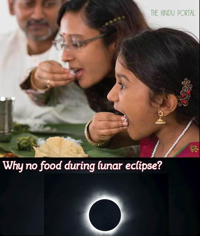 Why we don't eat food during a lunar eclipse ?