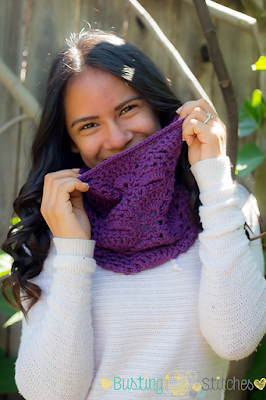 Purple Lace Cowl crochet pattern