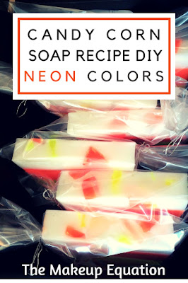 Here's an easy and straightforward recipe for DIY candy corn soap.  These handmade candy corn soaps make great gifts and are inexpensive to make.