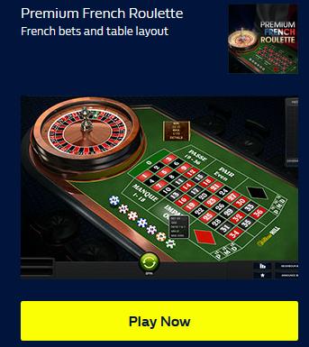 Premium French Roulette at William Hill Casino