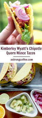 These Taco's are using a recipe of Pussycat doll Kimberley Wyatt. They are using quorn so are a great vegetarian and meatfree meal. They taste fantastic with the freshly pickled red onions