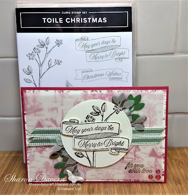Toile Christmas, Cardinal Christmas dies, Toile tidings DSP, Christmas Cards, 2019 Holiday Catalogue, Rhapsody in craft, Heart of Christmas, Stampin' up!, #loveitchopit