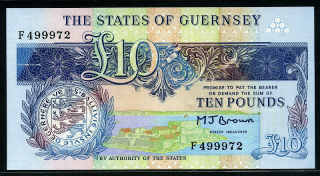 British notes Guernsey £10 pounds banknote paper money currency images