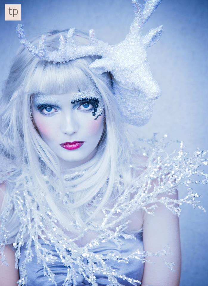 Ice queen makeup