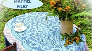 Patrones crochet de mantel vintage - técnica filet