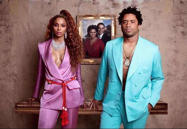 Ciara and Husband dress as Beyonce and Jay Z for Halloween