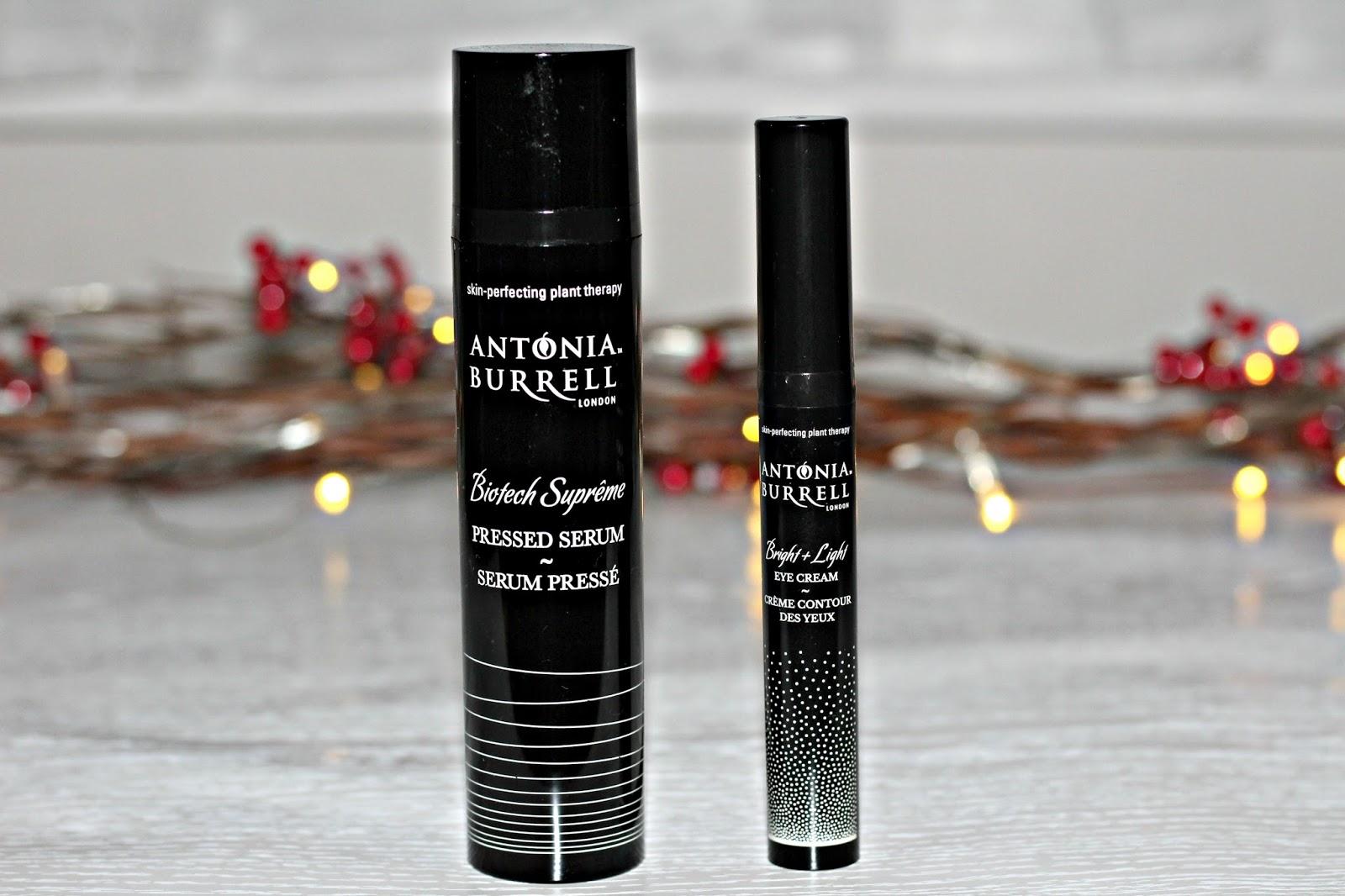Antonia Burrell: Biotech Pressed serum and Bright and light eye cream review