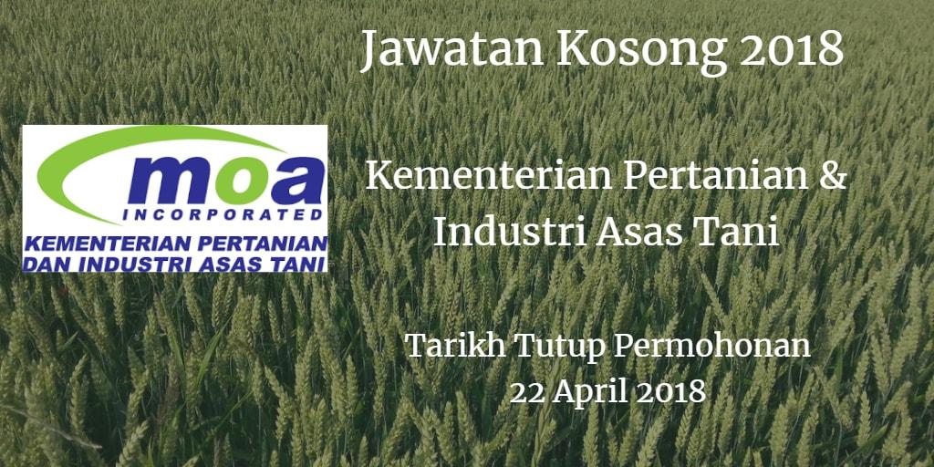 Jawatan Kosong MOA 22 April 2018