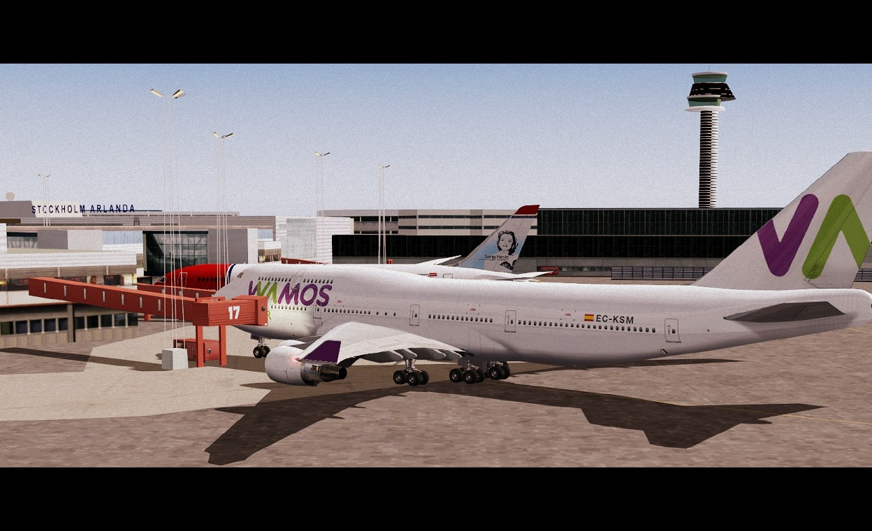 FS2004 screenshots Sweden: Wamos Boeing 747-400