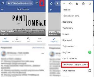 Cara Membuat Pintasan Facebook di Layar Utama Hp Android
