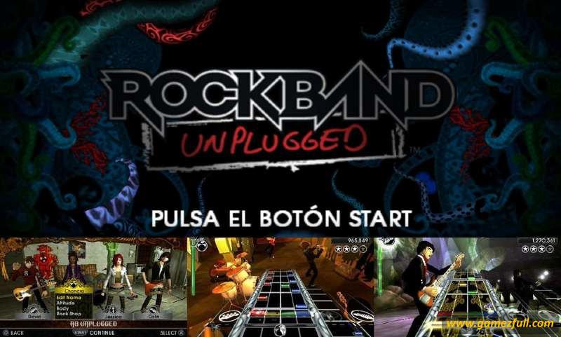 Rock Band Unplugged psp español