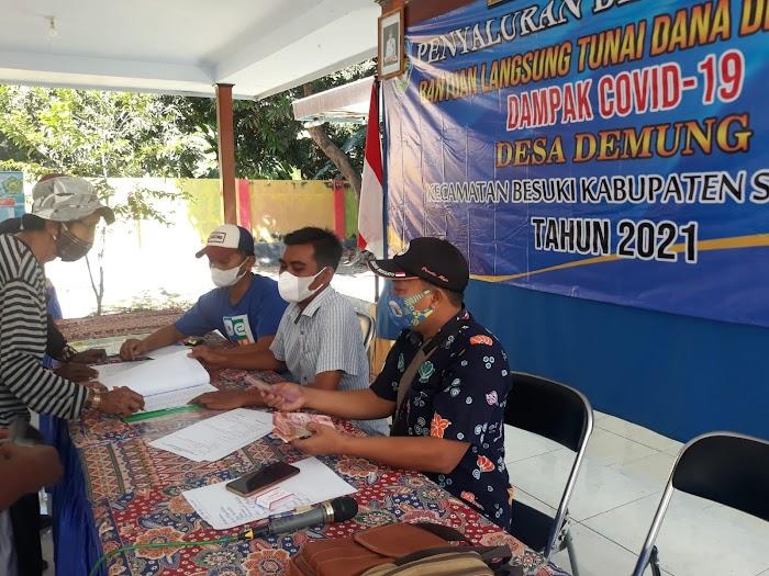 Pemerintah Desa Demung, Kecamatan Besuki, Salurkan BLT-DD Tahap 5 dan 6 Kepada 75 KPM