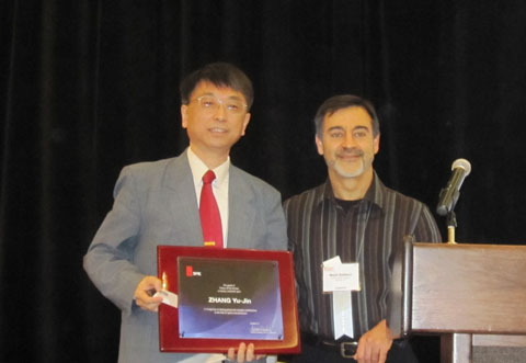 Yu-Jin Zhang and Majid Rabbani at EI