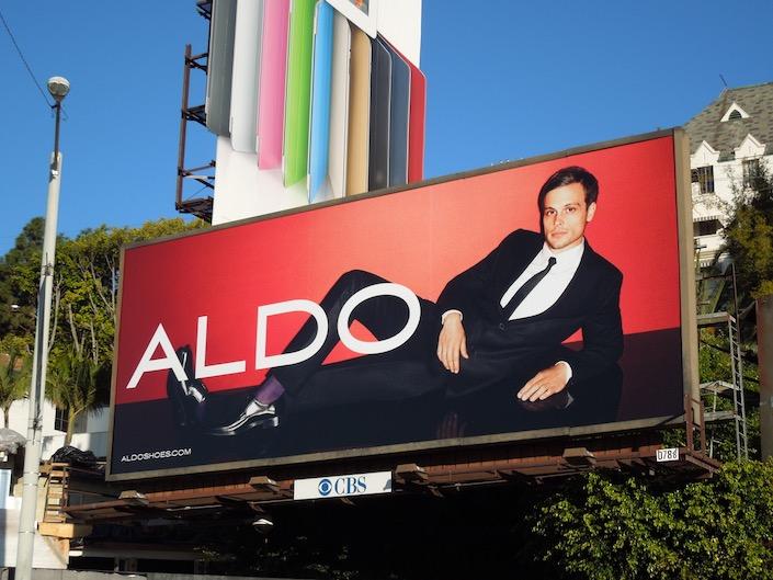 Matthew Gray Gubler Aldo Shoes 2011 billboard
