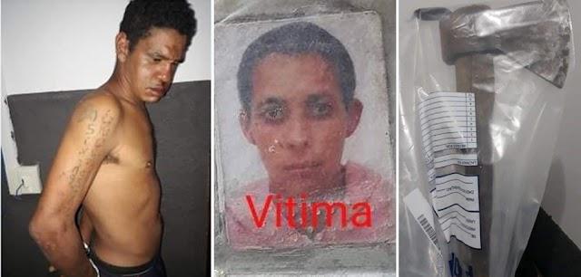 MT: Homem mata companheira a machadada e é preso deitado ao lado do corpo