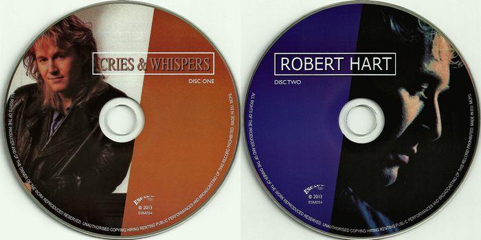 ROBERT HART - Cries And Whispers / Robert Hart [remastered + bonus] discs
