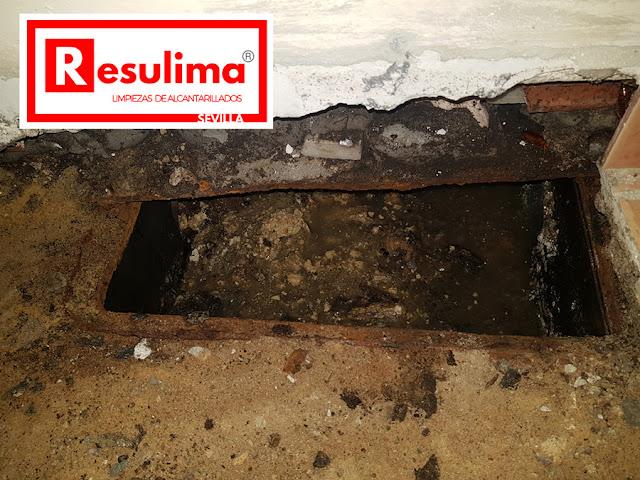 Limpieza de saneamiento en Sevilla