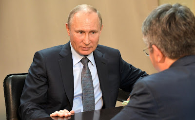Vladimir Putin at a meeting with Acting Head of Buryatia Alexei Tsydenov.