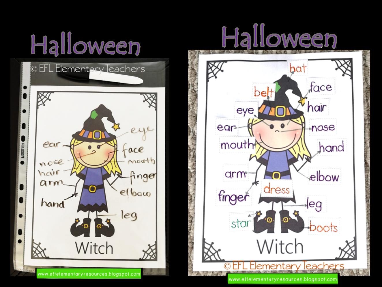 Efl Elementary Teachers Halloween Activities For The Esl