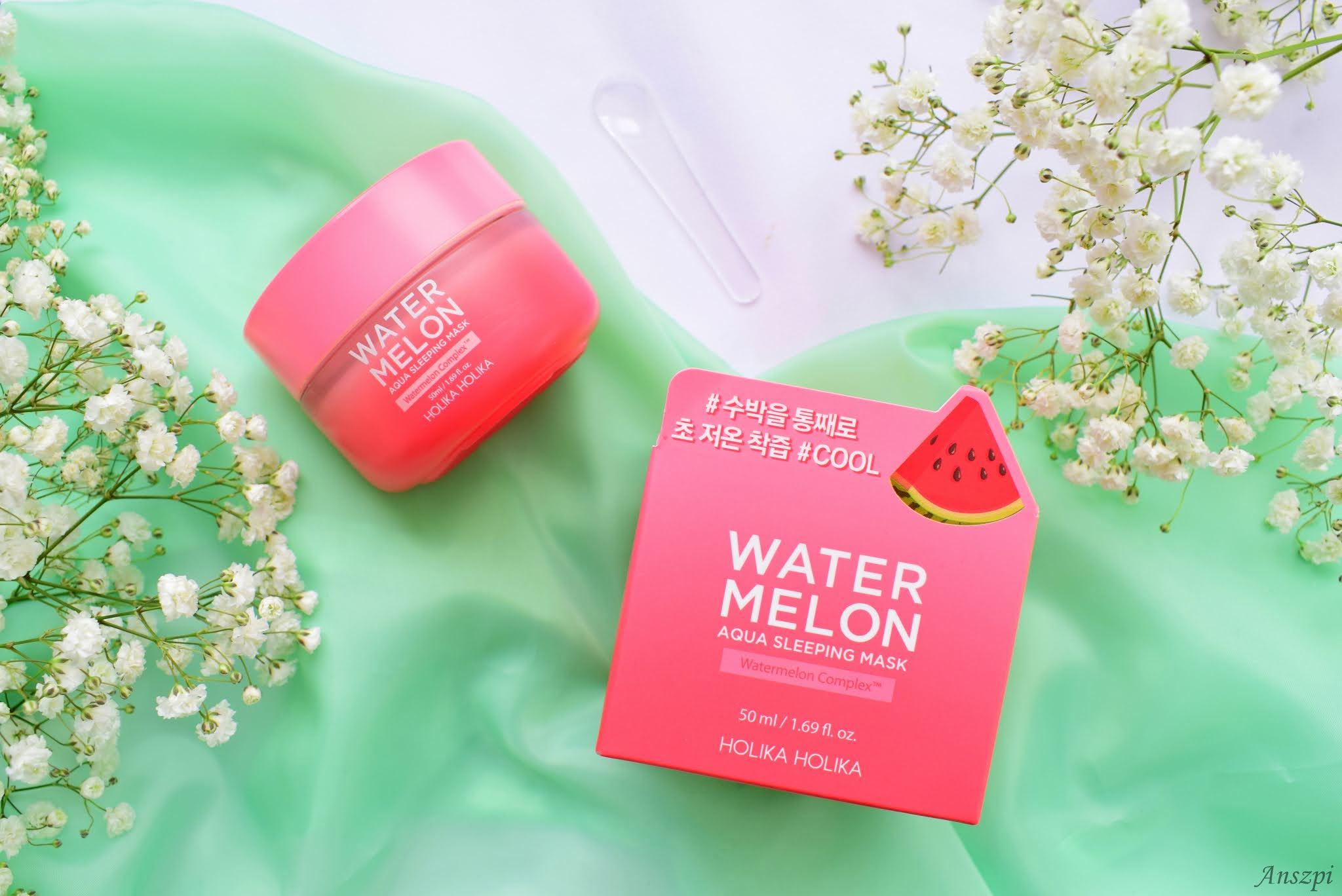 Intensywna maska na noc Watermelon Aqua Sleeping Mask