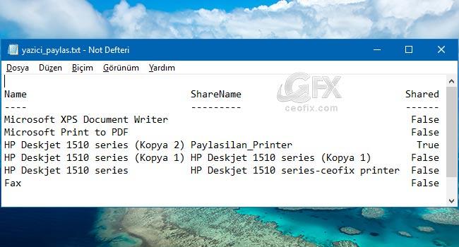 Aynı Yazıcının Kopyalarını Silme-www.ceofix.com