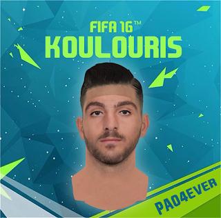 FIFA 16 Faces Efthimis Koulouris by pao4ever