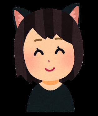 猫耳の女の子のイラスト(耳なし)