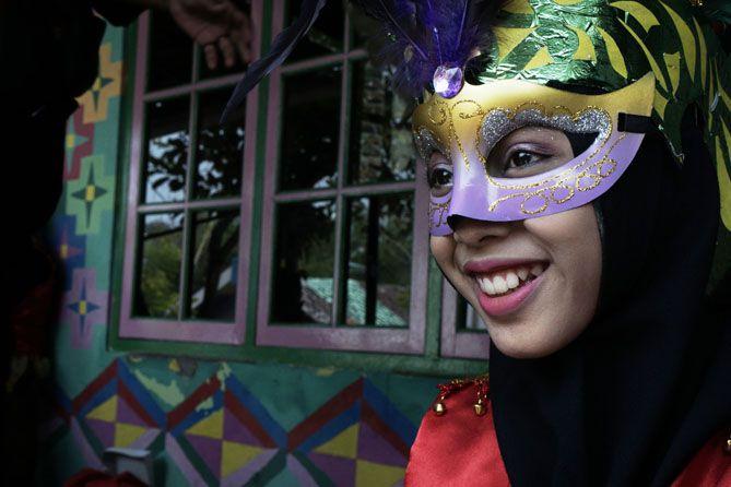 Tia, peserta Drumblek dari Amblotan Etnika