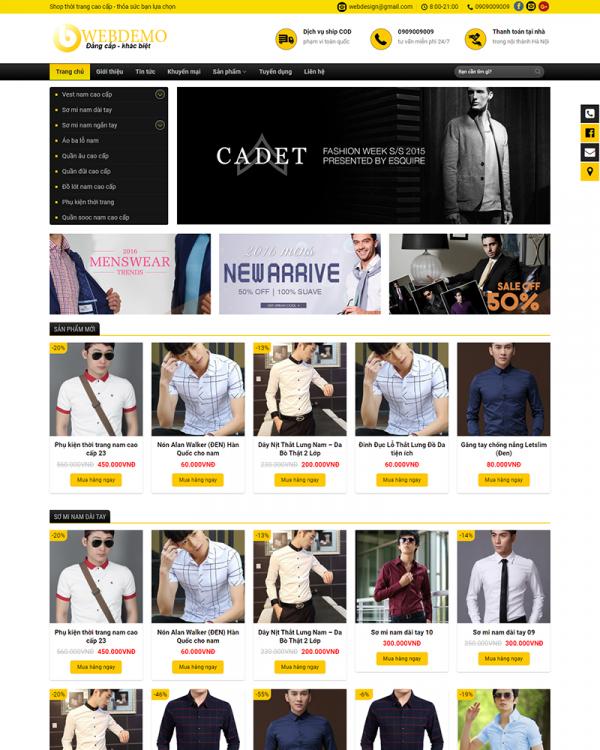 Mẫu Web Fashion 2