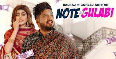 Note Gulabi by Gurlej Akhtar & Balraj