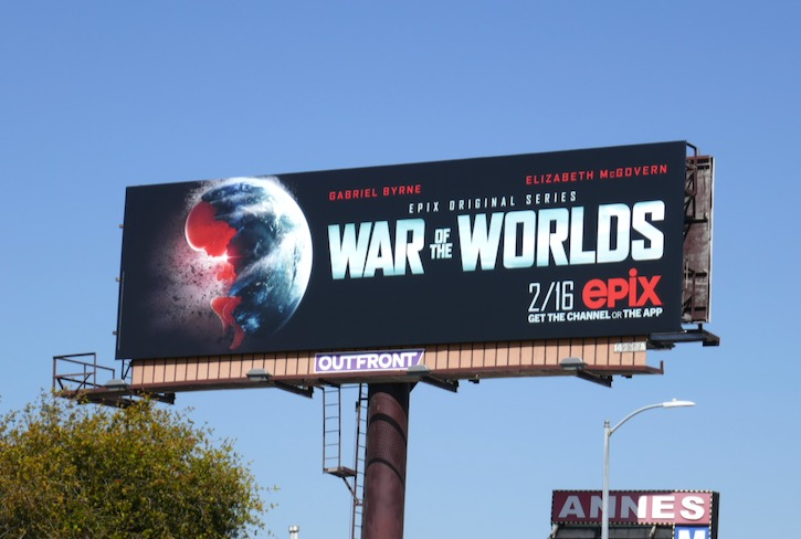 War of the Worlds Epix TV billboard