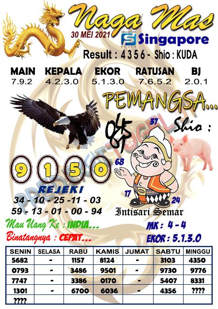 Syair Naga Mas SGP Minggu 30 Mei 2021