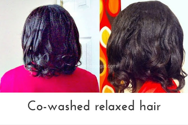 Co-washing relaxed hair 6 weeks post relaxer touch up | arelaxedgal.com