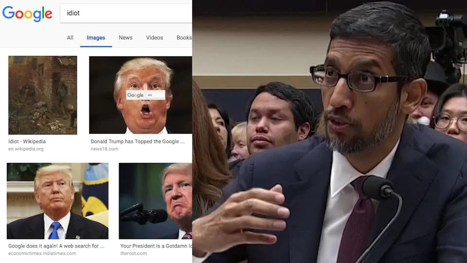 Congresswoman- to- Google- CEO: Why- when -I -search- 'idiot'- do I get pictures of Trump?