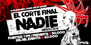 Concierto de NADIE - El corte final en Bogotá 2019