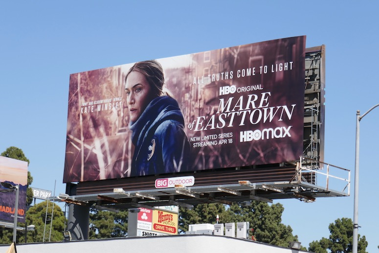 Mare of Easttown series launch billboard