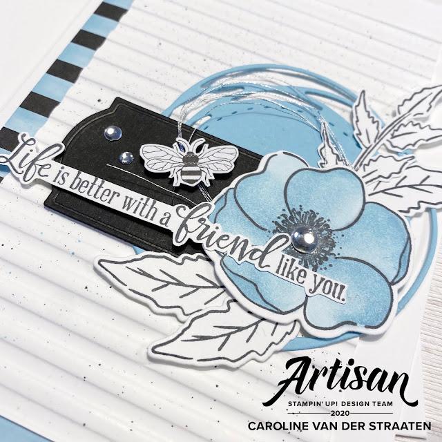 Stampin' Up!, Peaceful Poppies, Painted Poppies, stempelen, kaarten maken, Caro's kaartjes, carooskaartjes@hotmail.com