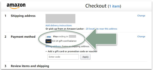 Amazon Checkout with Gift Card Balance