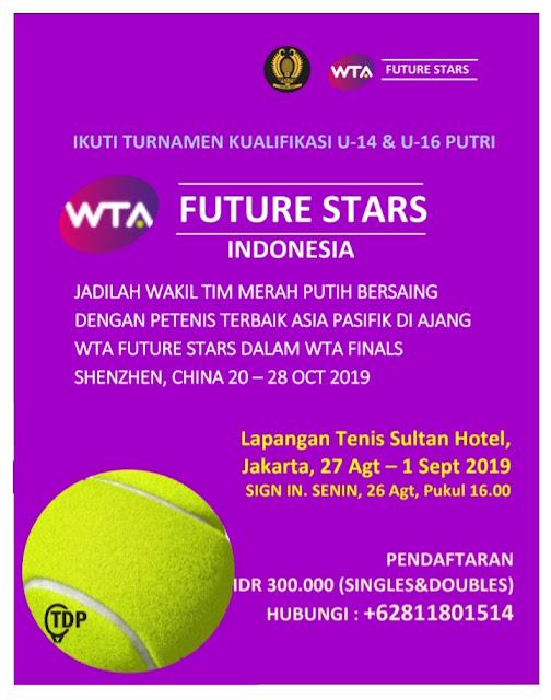 MW Cup & WTA Future Stars Indonesia: Entry List per 22 Agustus 2019