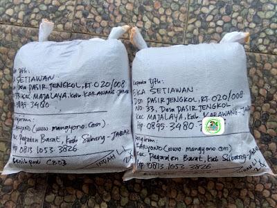 Benih Padi Pesanan  H. EKA S. karawang, Jabar.(Setelah di Packing).