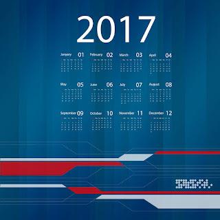 2017カレンダー無料テンプレート220