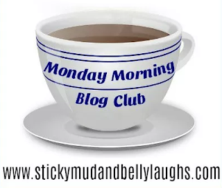Sticky mud & Belly laughs Monday morning Blog club logo.