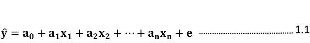 Bentuk Umum Persamaan Regresi Linier Multiple