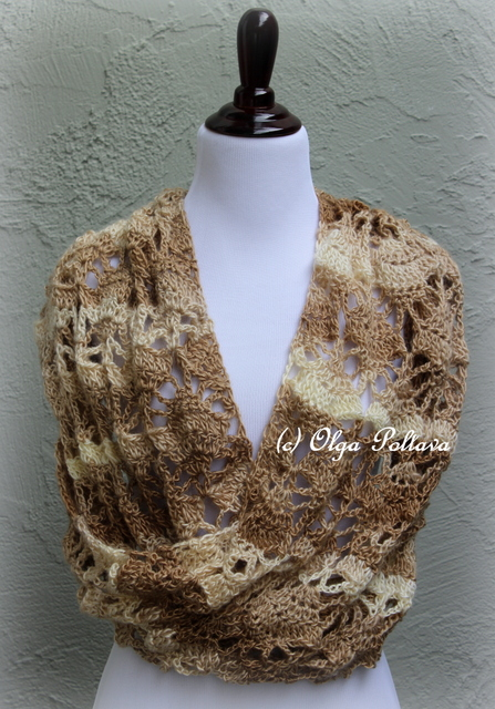 Crochet Pattern For Lacy Infinity Scarf : Lacy Crochet: Oversized Lace Infinity Scarf