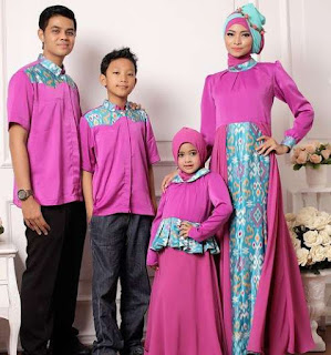 Model baju batik sarimbit keluarga untuk lebaran